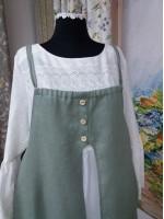 Романтичный комплект из платья-рубахи и сарафана