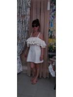 Летнее открытое платье из поплина для отдыха на море
